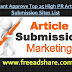 Top 25 Free Article Submission Sites List 2018 | Instant Approve High PR Article Submission Sites 2018