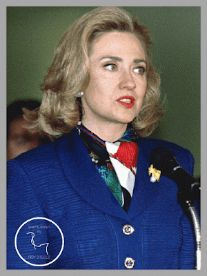 First Lady Hillary Rodham Clinton speaks in 1994.