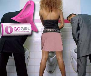 Achieve true gender equality by peeing while standing up with this female urination funnel. Simply place the plastic pink funnel by your hoo-ha and watch as you break gender barriers as you perform the glorious act of urinating while standing.
