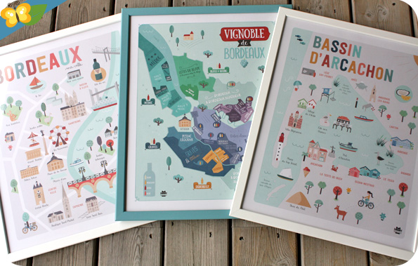 Affiches Bordeaux, Vignobles de Bordeaux et le Bassin d'Arcachon - La Fabriken