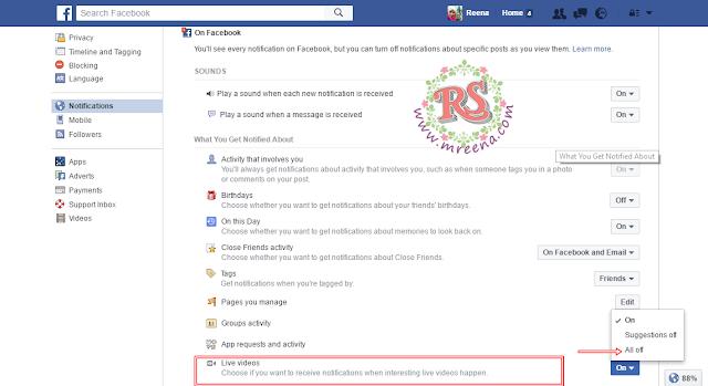 Tutorial OFF Notifications Video Live Di Facebook