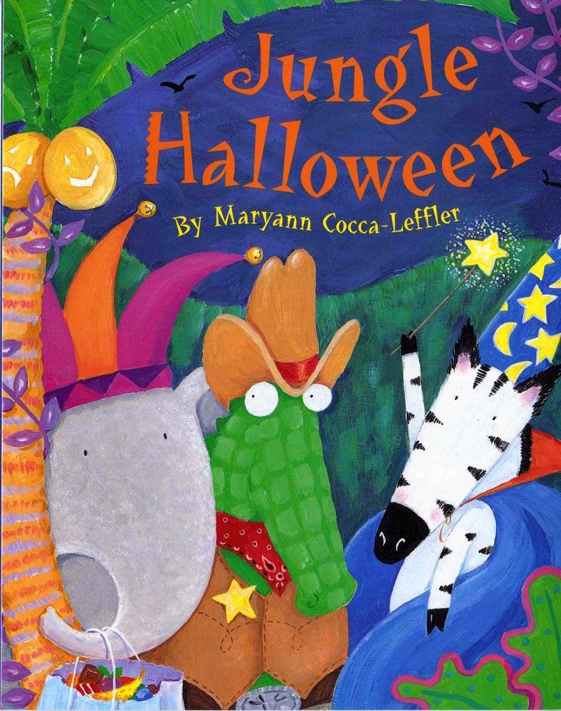 Jungle Halloween, part of book review list of jungle and rainforest books