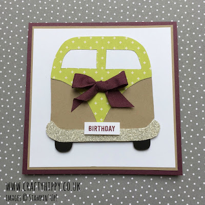 Learn how to make a Campervan Card using a very simple template.
