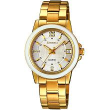 Ceas dama auriu Casio Sheen SHE-4512G-7A cu bratara metalica elegant