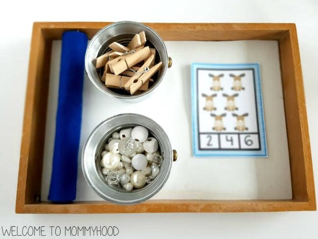 Arctic animal counting activities by Welcome to Mommyhood #winteractivities, #preschoolactivities, #montessori, #montessoriactivities, #mathactivities,