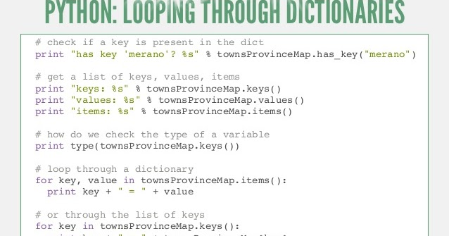 Python Looping Through A Dictionary Supercoders Web