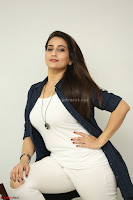 Manjusha in White Tight T Shirt and Black Jacket ~  Exclusive Celebrities Galleries 013.JPG