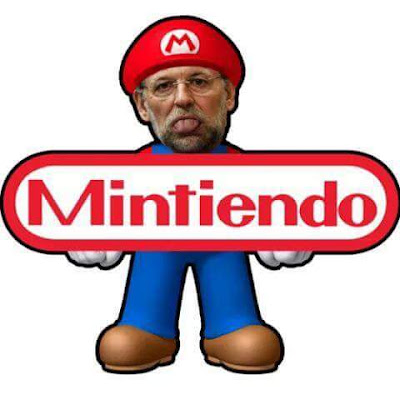 Mariano Rajoy, mintiendo, Nintendo, Mario Bros
