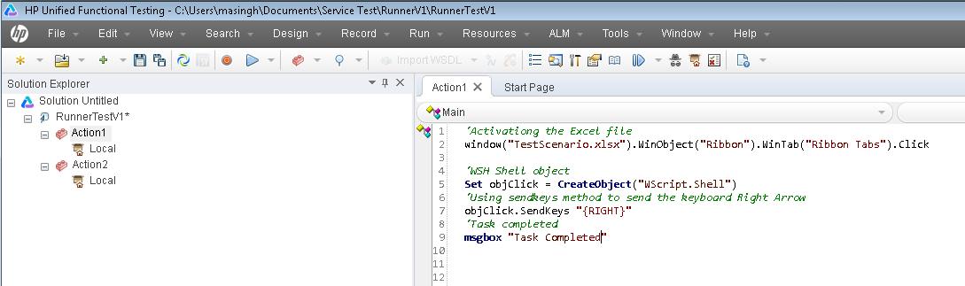Example of SendKeys in UFT – User friendly Tech help