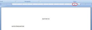 Cara membuat titik-titik rata di Microsoft Word