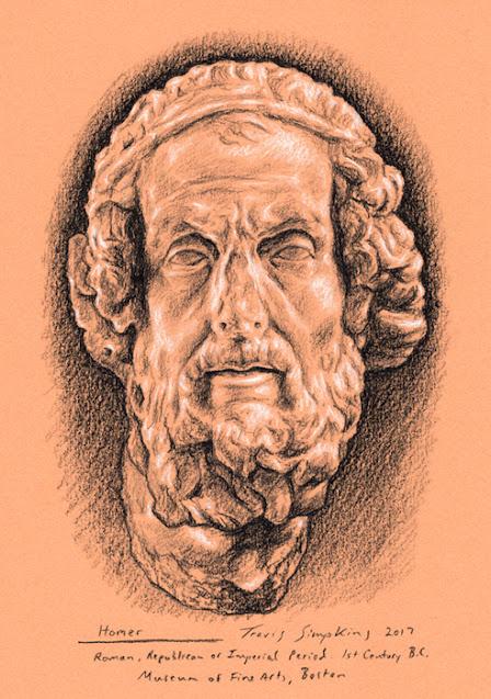 Homer. The Iliad. The Odyssey. Museum of Fine Arts, Boston. by Travis Simpkins