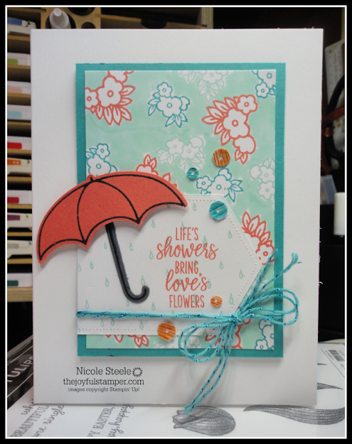Another way to use the free Sale-a-Bration item Metallic Baker's Twine & Sequins Combo Pack   Under My Umbrella bundle