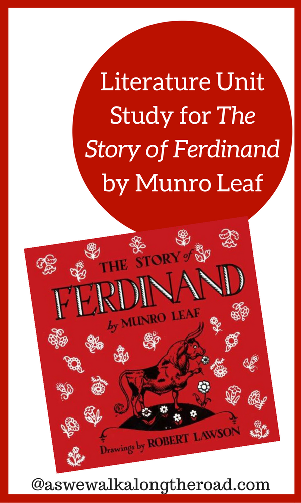 Kids literature unit study for The Story of Ferdinand