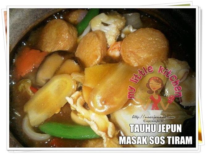Best Recipe Collection For Food Lovers Tauhu Jepun Masak Sos Tiram