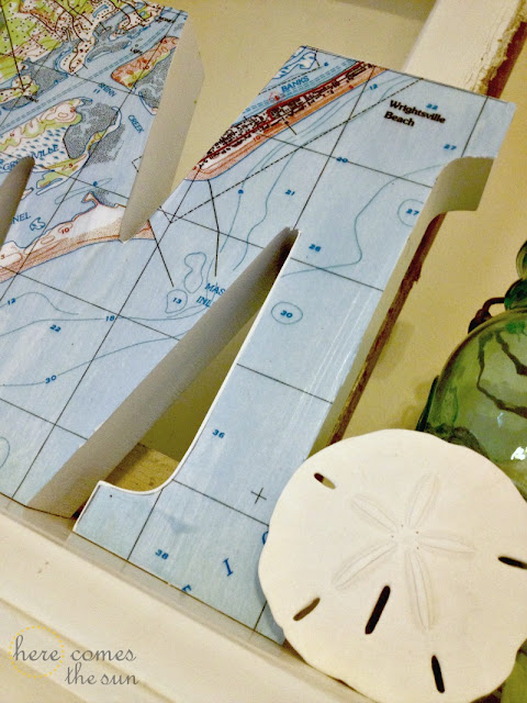 Commemorate your vacation with this Mod Podge Nautical Map Monogram