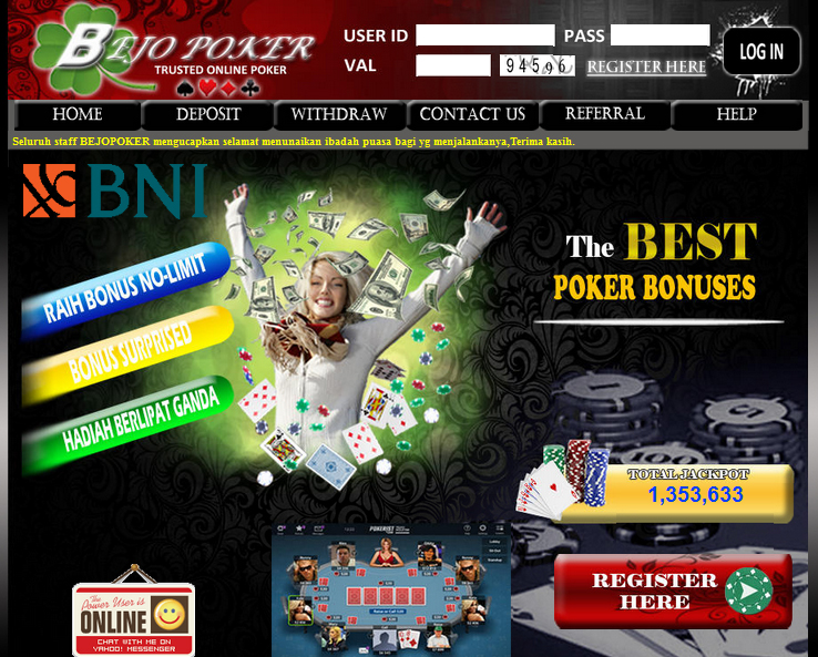 Main Poker Bank BNI Di BejoPoker GamesTangkas