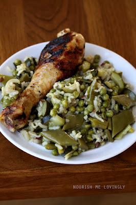 veg-rice_grilled-chicken-drumstick
