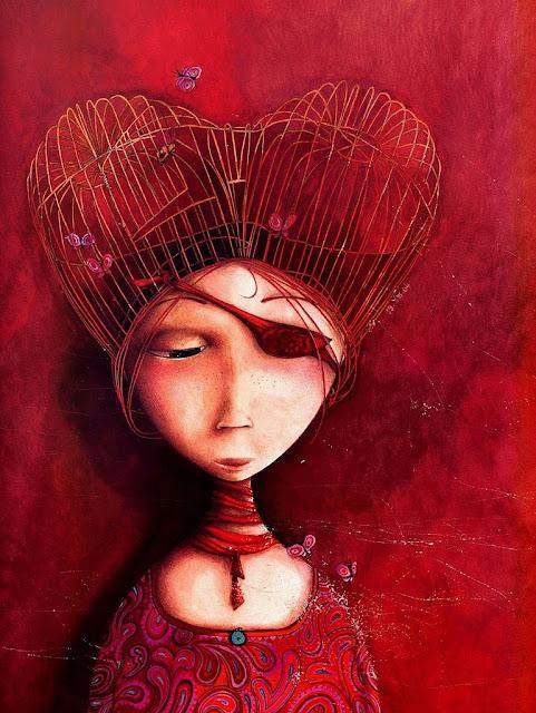 ilustración de Rébecca Dautremer del cuento de Philippe Lechermeier Princesas Olvidadas o desconocidas
