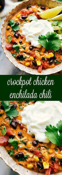 EASY AND DELICIOUS CROCKPOT CREAMY CHICKEN ENCHILADA CHILI
