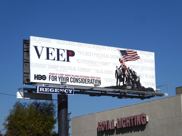Veep season 6 Golden Globes FYC billboard