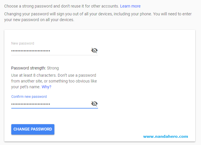 cara ganti sandi gmail ubah password akun google mail 2018