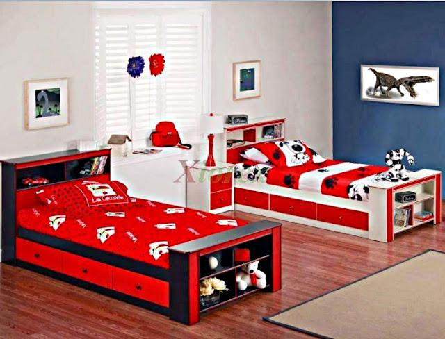 Desain Kamar Tidur Anak Laki-Laki Kembar