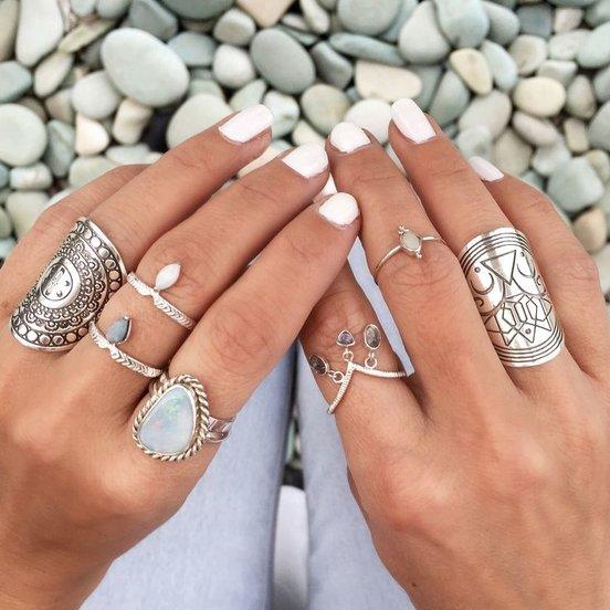 Boho Tibetan Rings