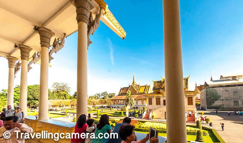 The Royal Palace has been occupied by the Cambodian Royal Family since 1860s, with only a brief period of absence during and after the period of Khmer Rouge. During this time, the Royal Palace served either as a museum or was closed.