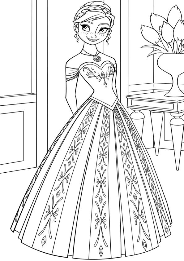 Dibujo Elsa Dibujos Dibujos Frozen Dibujos Para Colorear