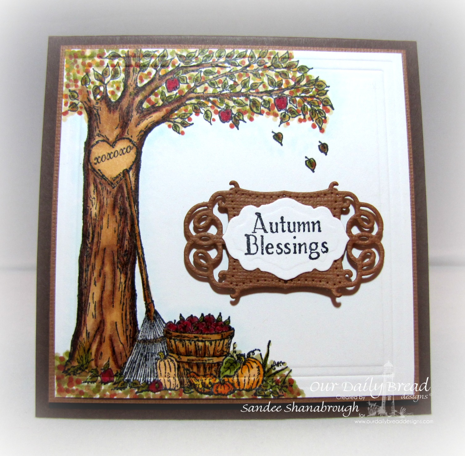 Stamps - Our Daily Bread Designs Autumn Tree, ODBD Custom Antique Labels and Border Dies, ODBD Custom Vintage Flourish Pattern Dies