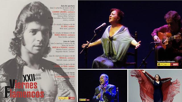 Cartel y artistas de los Viernes Flamencos del Teatro Barakaldo