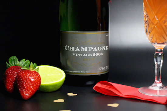 Champagne Strawberry Lime Bellini Recipe
