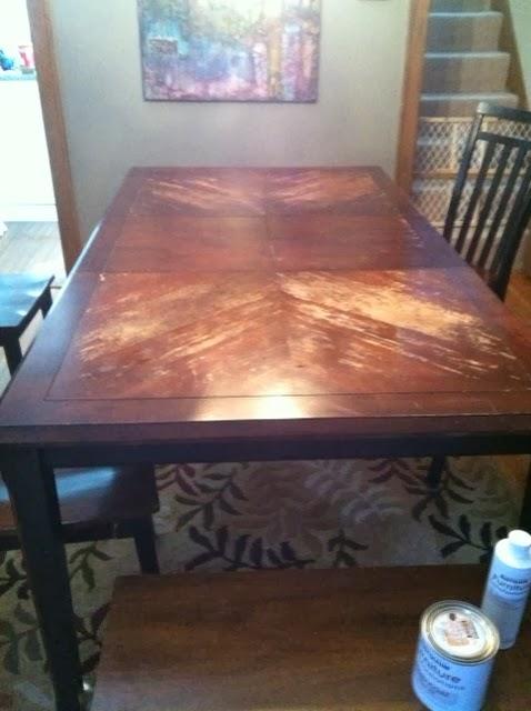 Table Refinish Using Rust Oleum Furniture Transformations