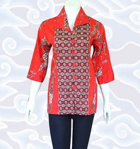 10 Model Baju Batik Muslim Atasan Wanita Terbaru 2018: 10 Model Baju Batik Muslim Atasan Wanita Terbaru 2018