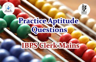 Aptitude Questions (Data Interpretation) for IBPS Clerk Mains