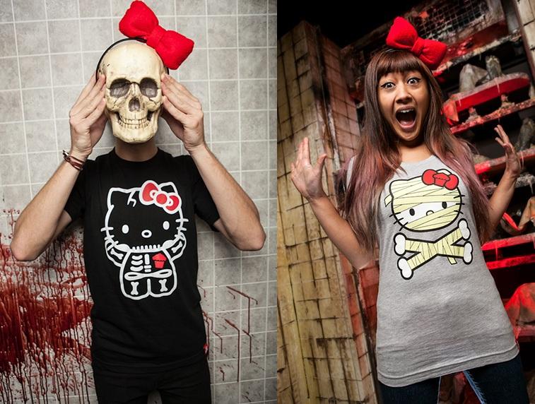 bc2e41755 Johnny Cupcakes x Hello Kitty Halloween Collection - Skeleton Kitty & Mummy Kitty  T-Shirts