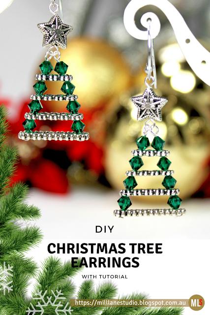 DIY Inspiration Sheet for Evergreen Christmas Tree Earrings Tutorial
