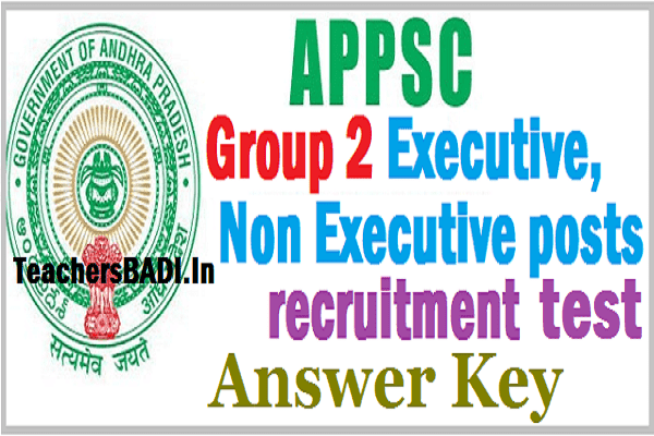 APPSC Group 2 Screening Test Key, Main Exam key, Results Download