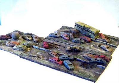 Ruined Roads Modular Scenery by Junkyard Miniatures