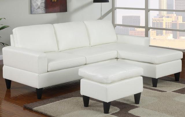 Sofa tamu minimalis warna putih