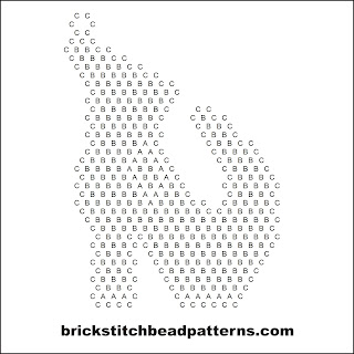 Click for a larger image of the Another Witch Shoe Halloween bead pattern word chart.