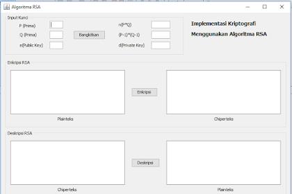 Penerapan Algoritma RSA Untuk Enkripsi dan Deskripsi Teks Menggunakan Java