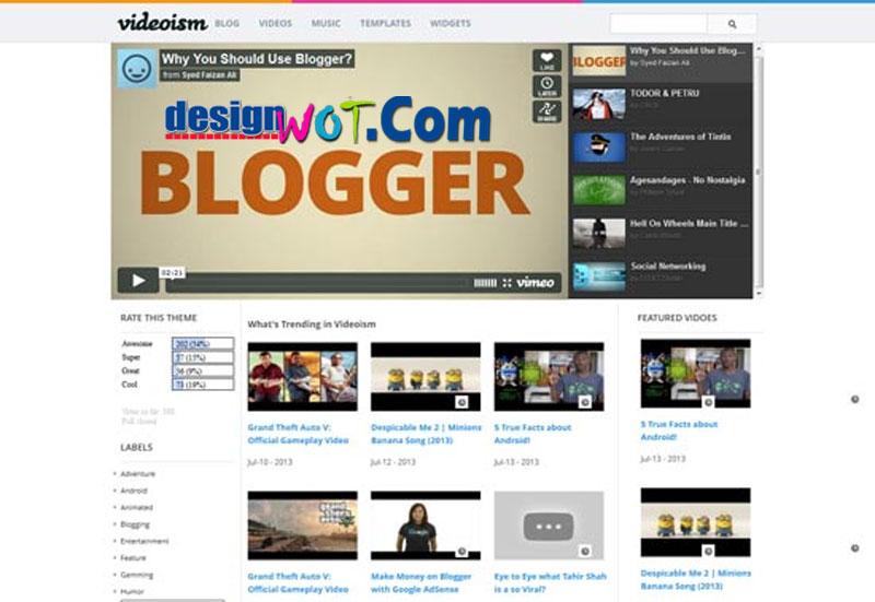 VIDEOISM Responsive Video Blogger Template