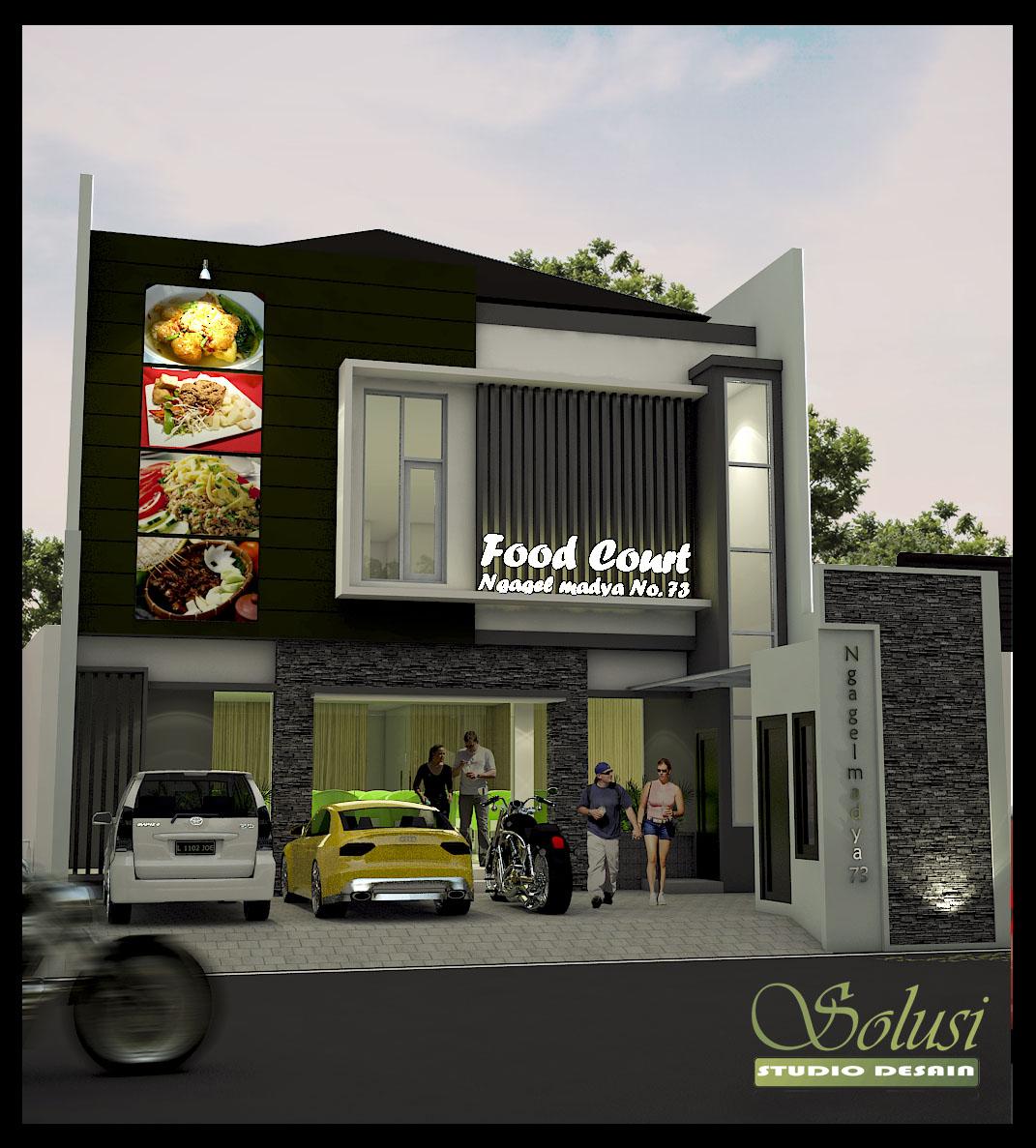 Jasa Desain Dan We: Solusi Studio Desain: Desain Ruko 2 Lantai Bpk David
