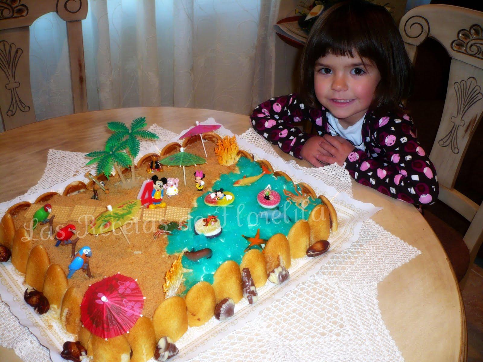 Florelila recetas y aficiones tartas piscina y playa - Cumpleanos en piscina ...