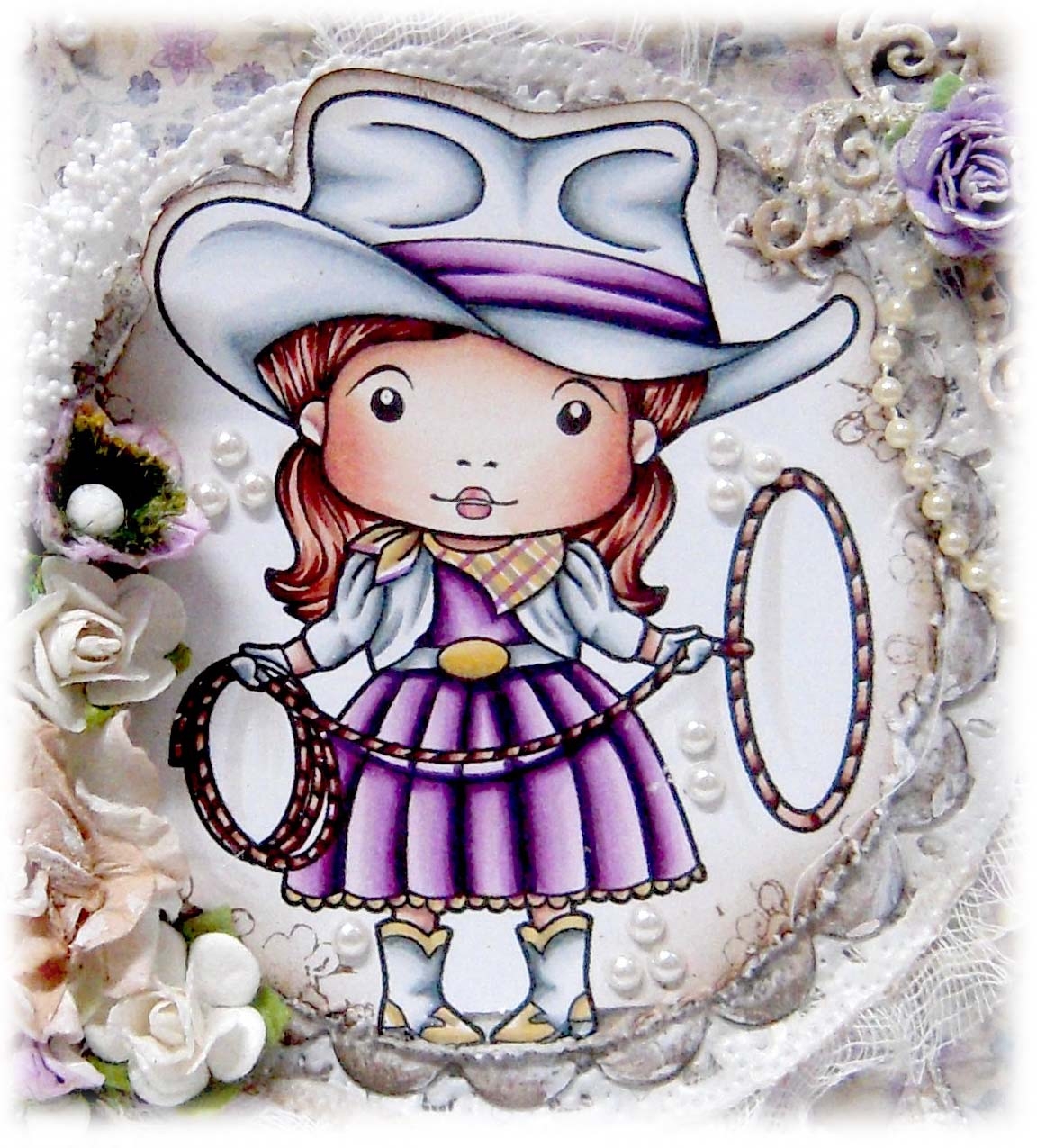 Kit And Clowder Online Colouring Classes Cowgirl Marci