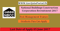 National Buildings Construction Corporation Recruitment 2017– Management Trainee