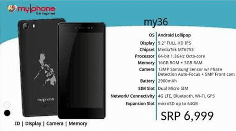 MyPhone My36 Spotted Too, Flagship Level Device With FHD And 3 GB RAM Priced at 6999 Pesos!