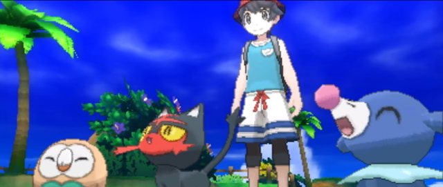 Pokémon Ultra Sun Ultra Moon male boy protagonist player character Rowlet Litten Popplio