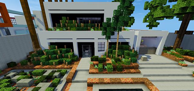 Casa moderna autom tica skybuild constru es de minecraft for Casa moderna y automatica en minecraft